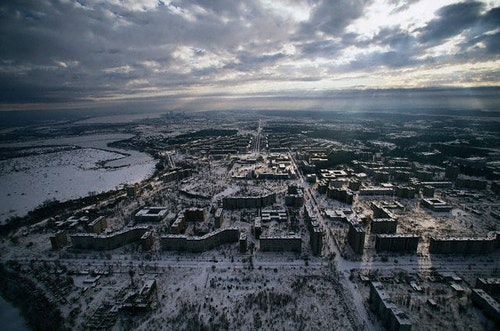 Abandoned Town of Pripyat near Chernobyl