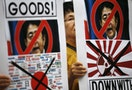 Japanese Students Protest Against Japan-U.S. Security Treaty