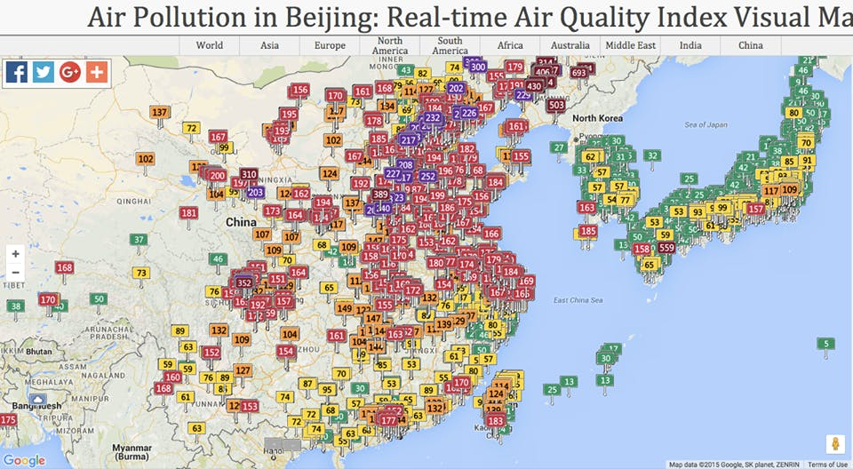 Taiwan's Current Serious Air Pollution Has Nothing To Do With China