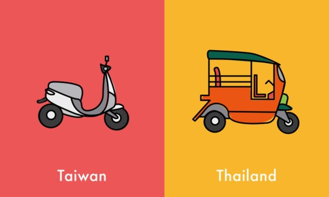10 Illustrations Show How Different Taiwan and Thailand Are - The