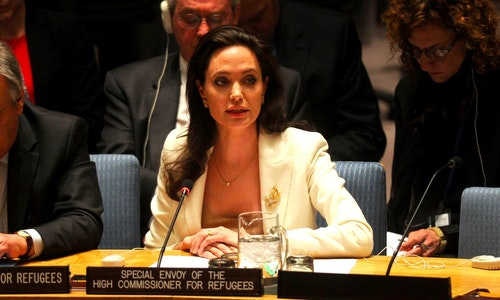 ANGELINA JOLIE ATTENDS UN SECURITY COUNCIL MEETING, NEW YORK