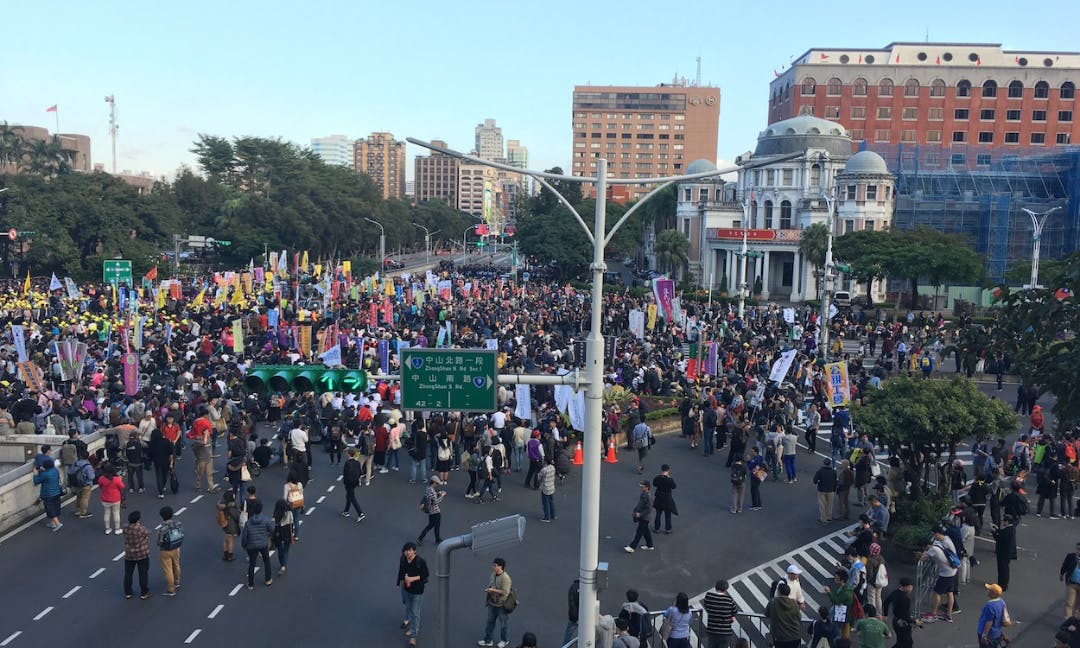 Labor Law Protests Rock Taipei