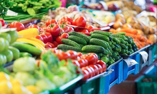 Fruits and Vegetables at City Market in Riga