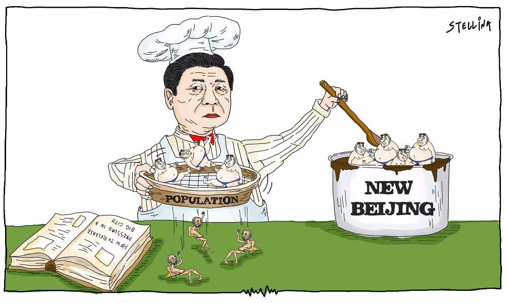 CARTOON: Beijing Driving Out 'Lower-End Population'