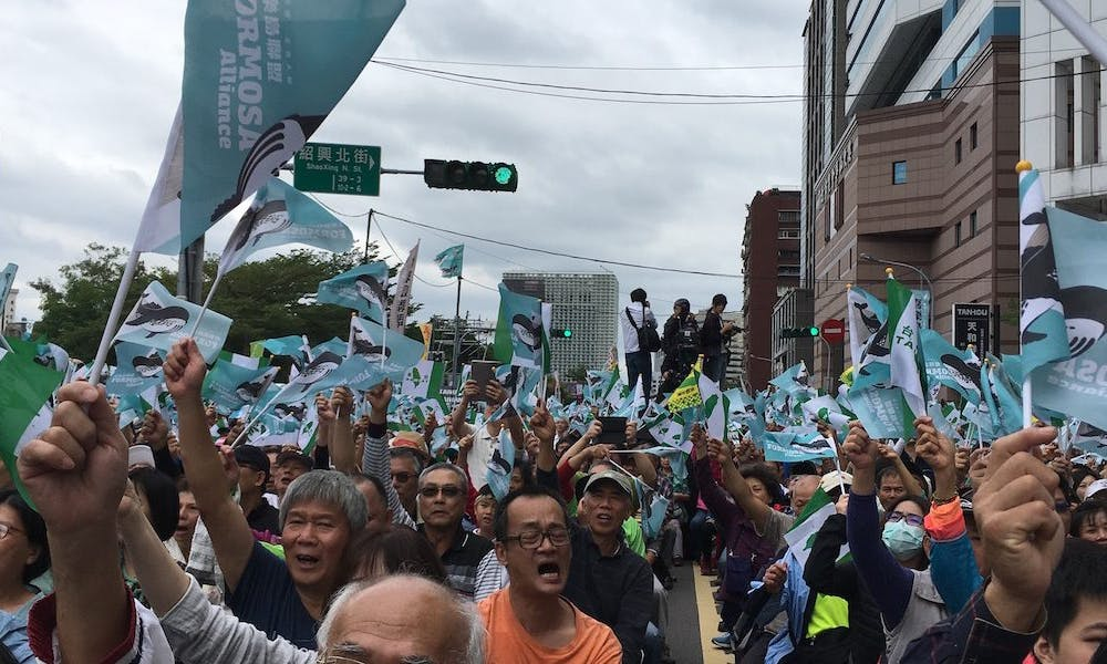 Olympic Naming Rally Sets Stage for Taiwan Independence Vote