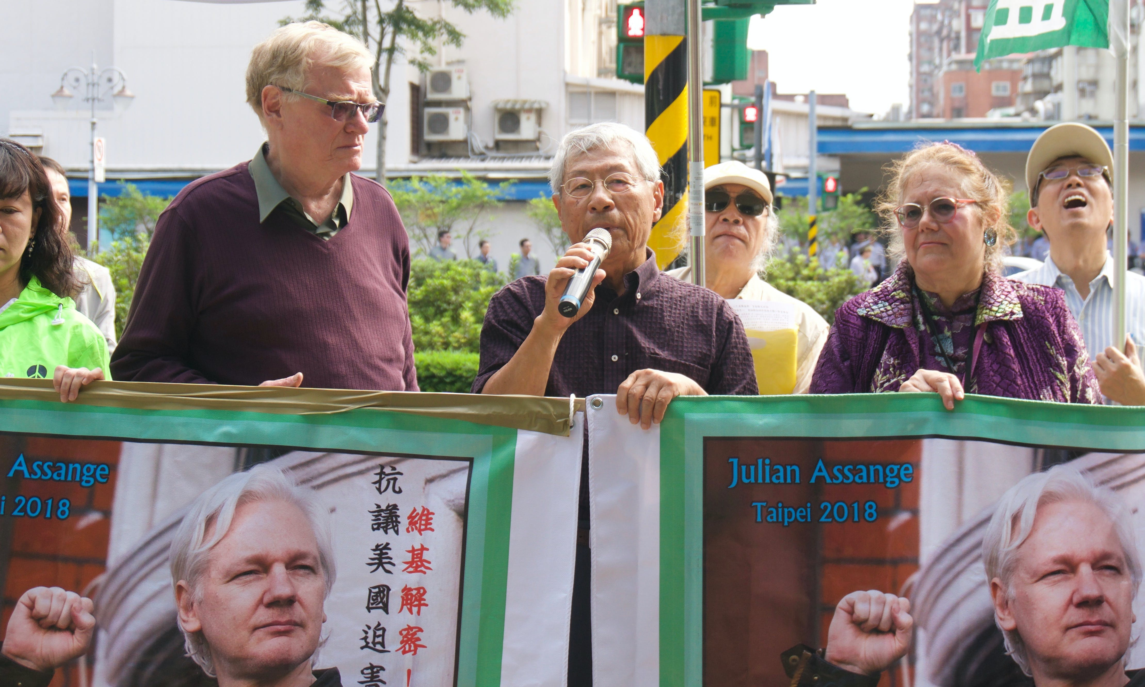 Protesters Gather in Taipei to Condemn US 'Persecution' of Julian Assange