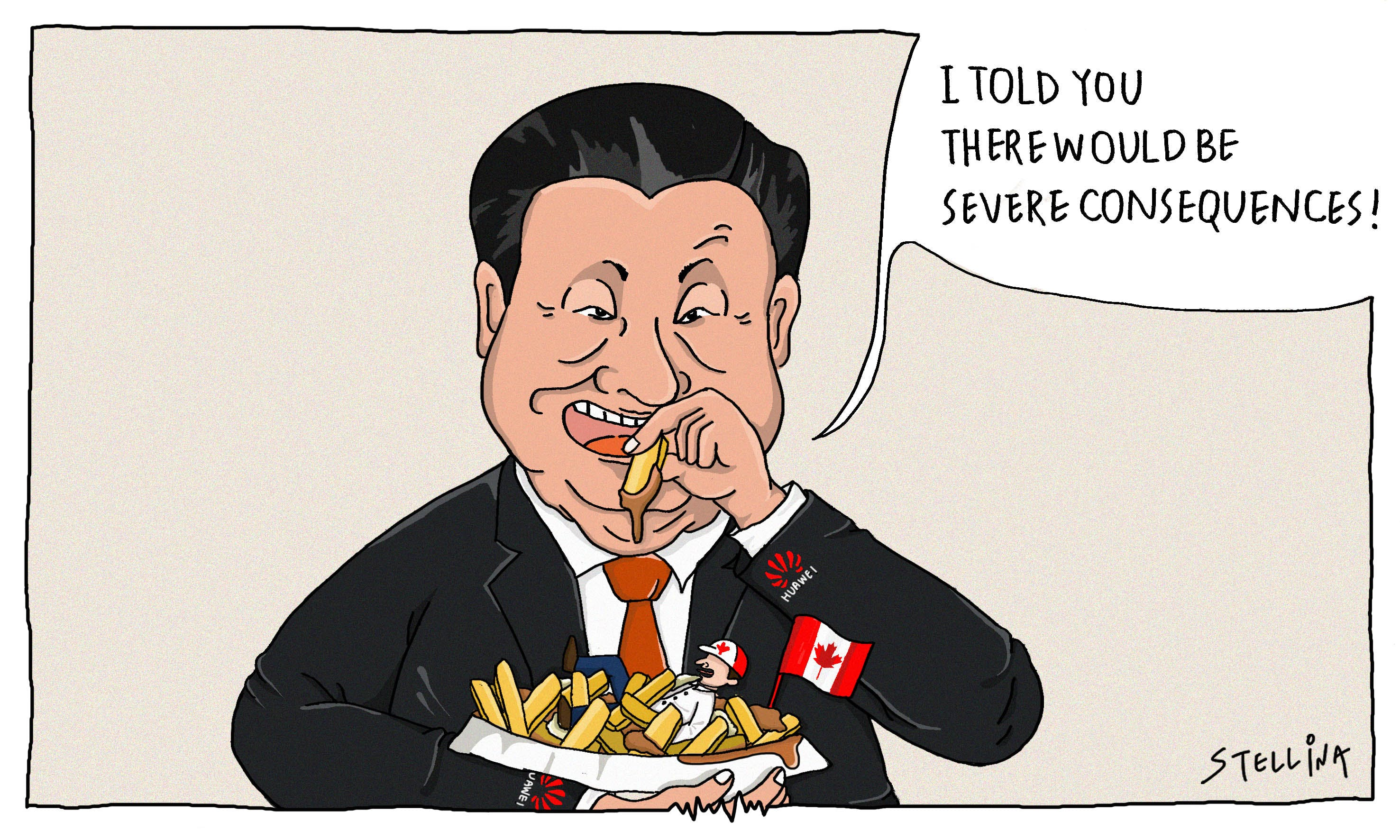 CARTOON: China Gets Carried 'Huawei' in Tit-for-Tat Canadian Retaliation