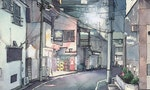 ILLUSTRATIONS: Tokyo by Night in Watercolors