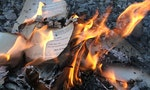 Chinese Library Staff Burn Books in Public, Causing Social Media Uproar