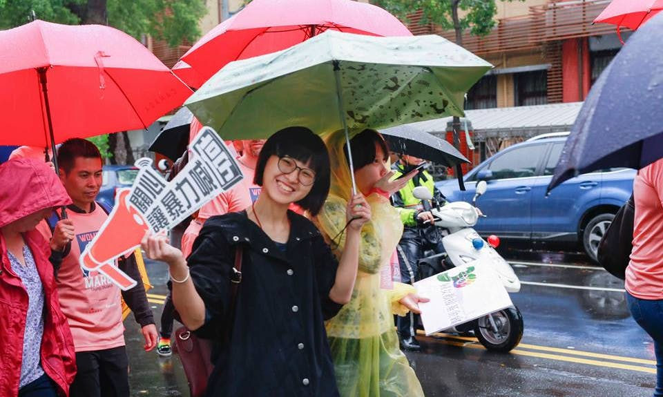 Women's March Braves the Rain in Taipei, Tsai Touts Gender Equality