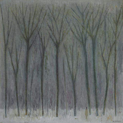 森林之雪_Snow_in_Forest_1991_油彩.畫布_Oil_on_ca